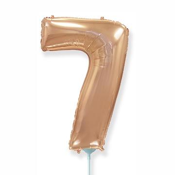 Шар 41 см Мини - Цифра 7 Розовое Золото