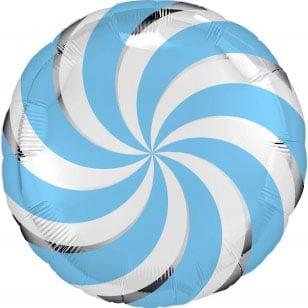 Шар 46 см Круг Леденец Голубой