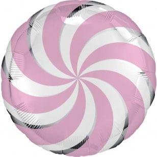 Шар 46 см Круг Леденец Фуше Розовый