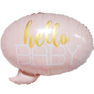 Шар 58 см Фигура С Рождением Малышки Розовый