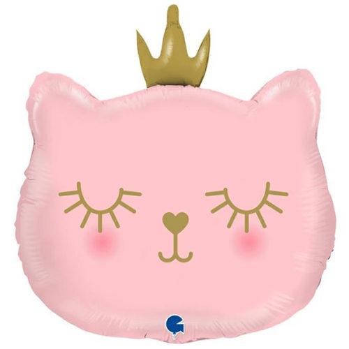 Шар 66 см Фигура Котенок Принцесса Розовый