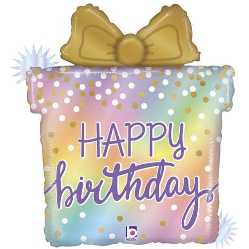 Шар 69 см Фигура Подарок на День Рождения Голография