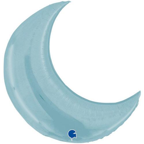 Шар 91 см Фигура Полумесяц Светло-голубой
