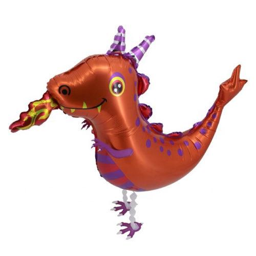 Шар 91 см Ходячая Фигура Огнедышащий дракончик
