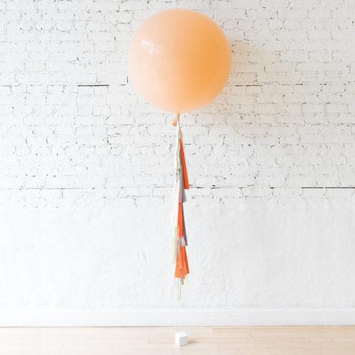 Большой шар персик и гирляндой Тассел Лесные друзья