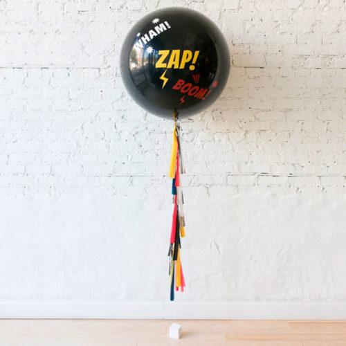 Большой шар с конфетти Бэтмен против Супермена с Ггирляндой Тассел и грузиком Индивидуальная надпись