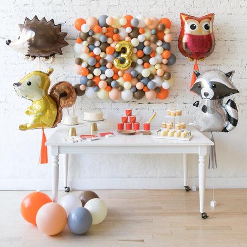 Комплект из шаров Панно Шары на пол и шары фигурные Лесные друзья