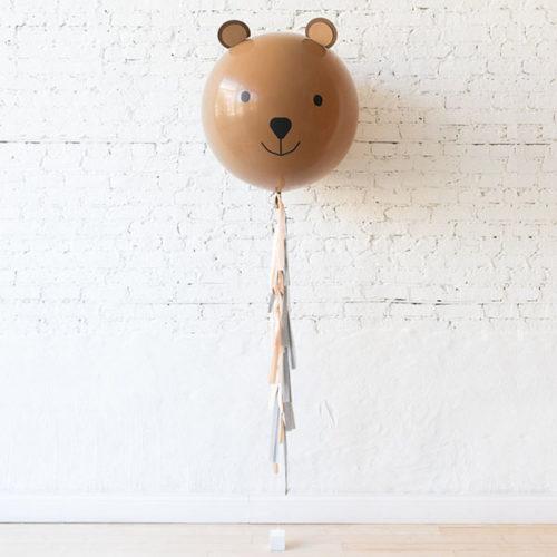 Мишка шар с Гирляндой Тассел и Грузиком