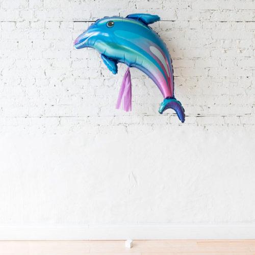 Фигурный шар Дельфин с гирляндой Тассел и грузиком Милая Русалочка