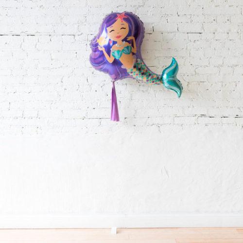 Фигурный шар с гирляндой Тассел и грузиком Милая Русалочка
