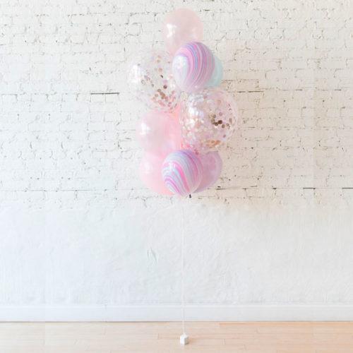 Фонтан из 10 шаров Единорог нежность