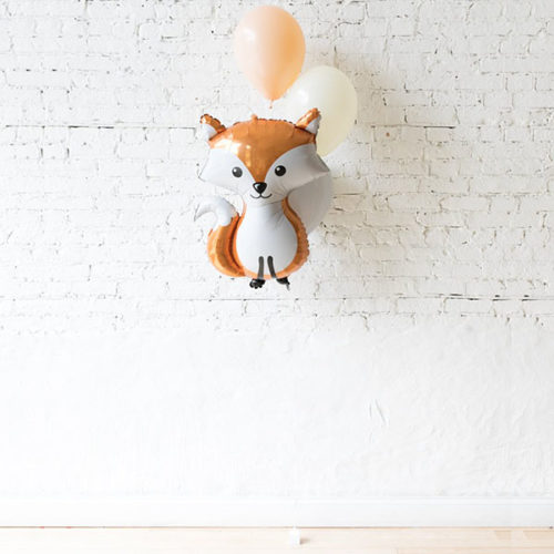 Фонтан из 3 шаров с Лисой Лесные друзья