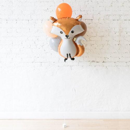 Фонтан из 5 шаров с Лисой Лесные друзья