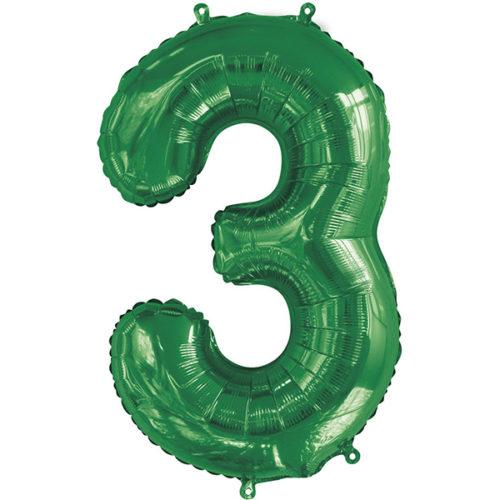 Шар 86 см Цифра 3 Slim Зеленый