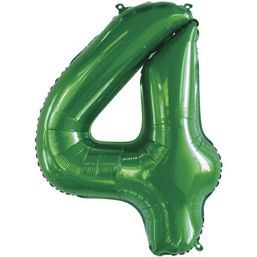 Шар 86 см Цифра 4 Slim Зеленый