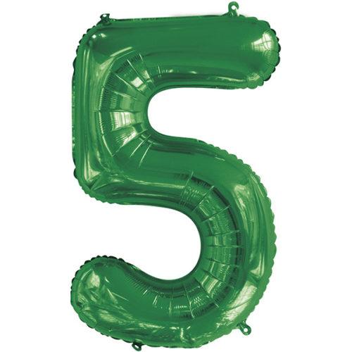 Шар 86 см Цифра 5 Slim Зеленый