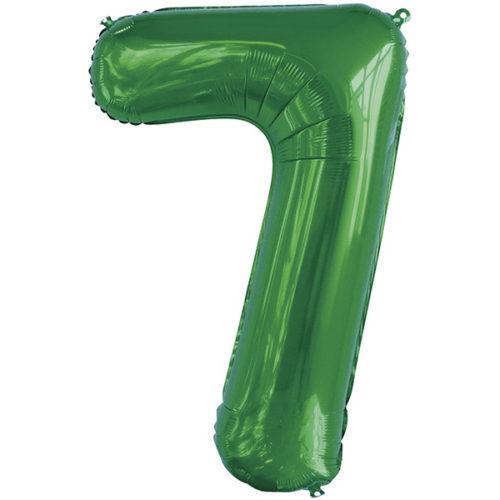 Шар 86 см Цифра 7 Slim Зеленый