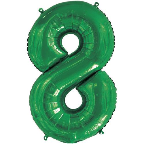 Шар 86 см Цифра 8 Slim Зеленый