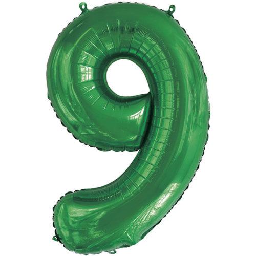 Шар 86 см Цифра 9 Slim Зеленый
