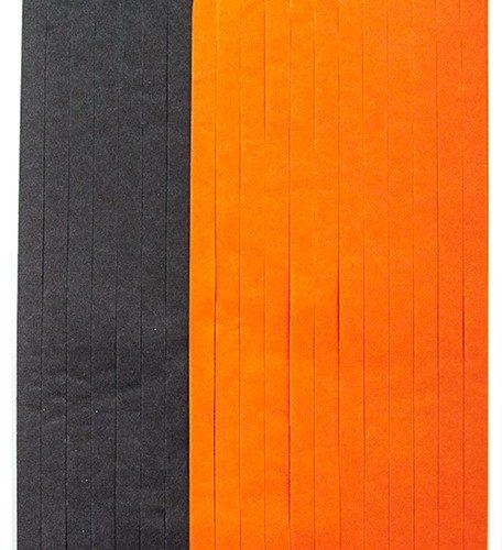 Гирлянда Тассел Черный Оранжевый 35 х 12 см 10 листов