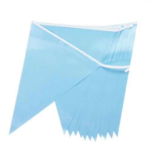 Гирлянда Флажки Голубой 28 8х 300 см