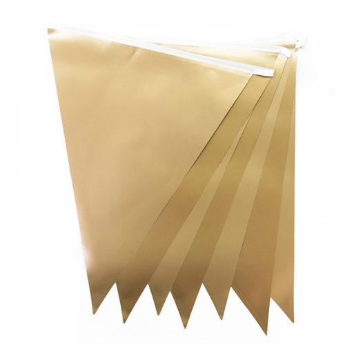 Гирлянда Флажки Золото 28 8х 300 см