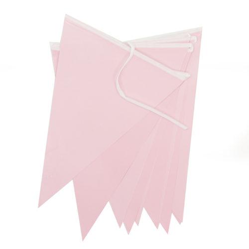 Гирлянда Флажки Розовый 28 8х 300 см