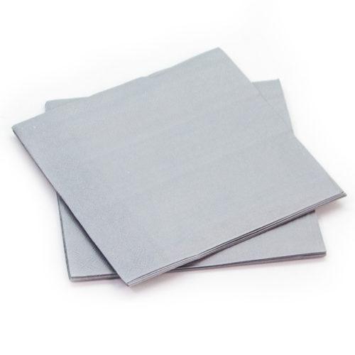 Салфетки Серебро 25 х 25 см 12 штук