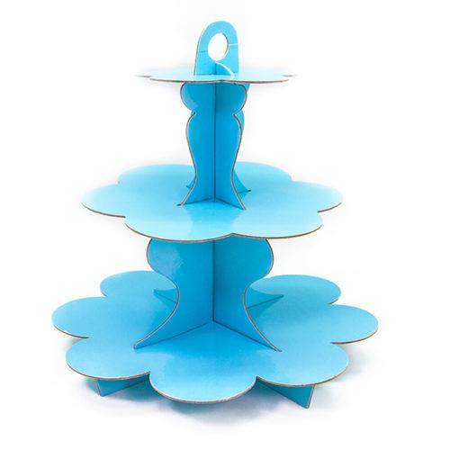Стойка для торта 33 см Голубой