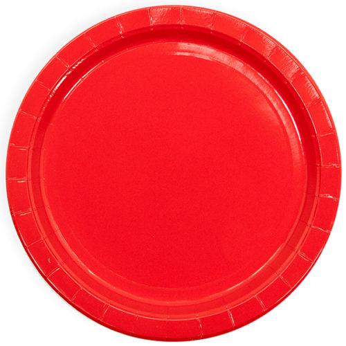 Тарелки 18 см Красный 6 штук