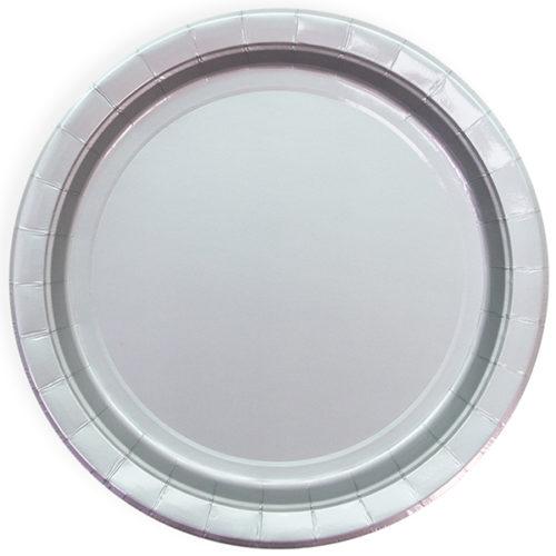 Тарелки 18 см Серебро 6 штук