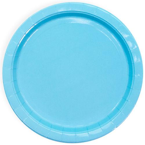 Тарелки 23 см Голубой 6 штук