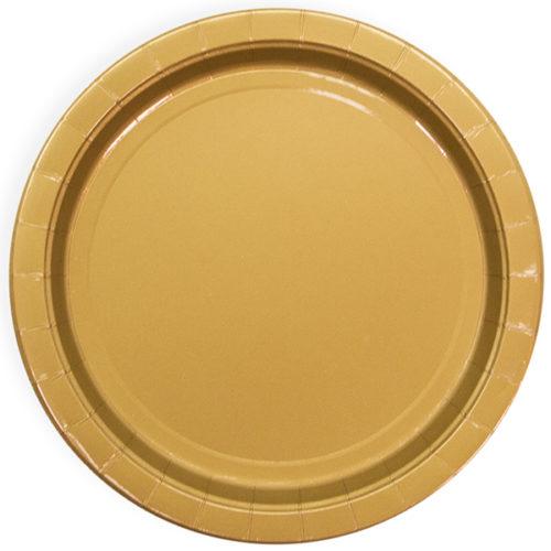 Тарелки 23 см Золото 6 штук