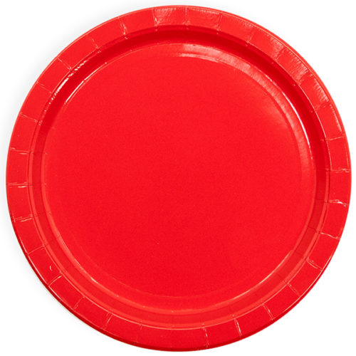 Тарелки 23 см Красный 6 штук
