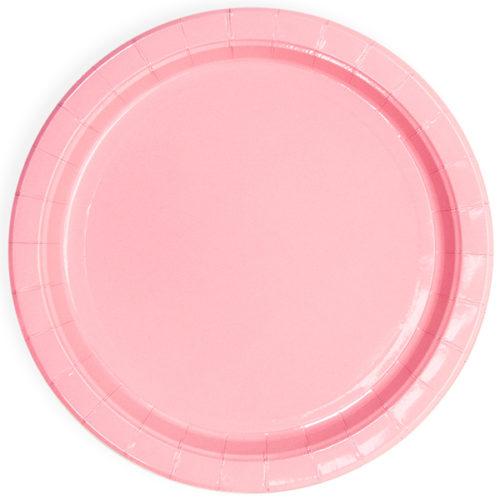 Тарелки 23 см Розовый 6 штук