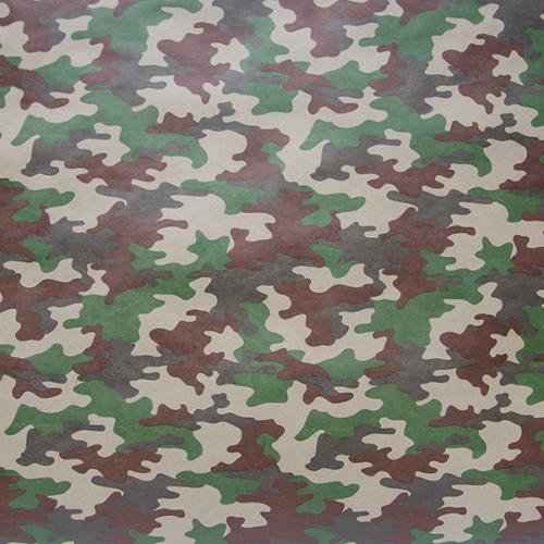 Упаковочная бумага Крафт 70гр 0,7 х 10 м Камуфляж Хаки