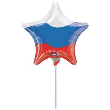 Шар 23 см Мини-фигура Триколор Звезда