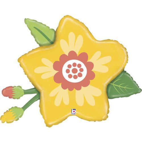 Шар 86 см Фигура Цветок Желтый