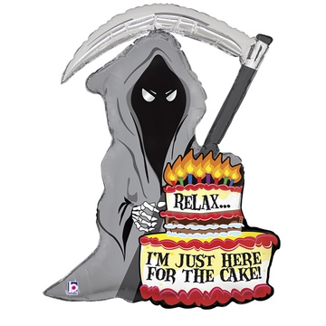Шар 89 см Фигура JUST FOR CAKE Смерть с косой