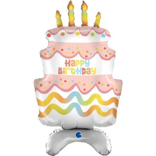 Шар 97 см Ходячая Фигура Торт на День Рождения