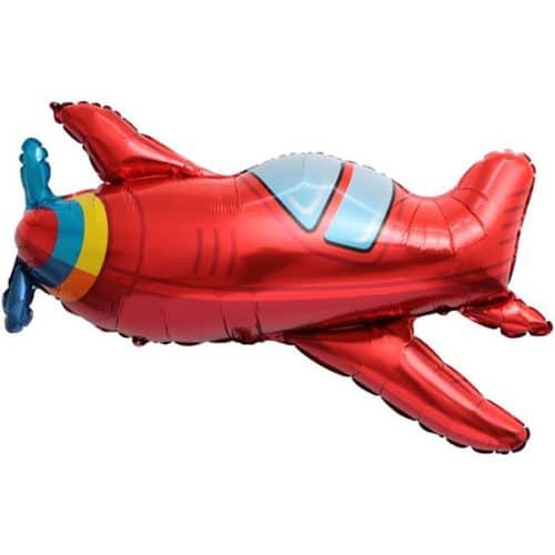 Шар 38 см Мини-фигура Самолет Красный