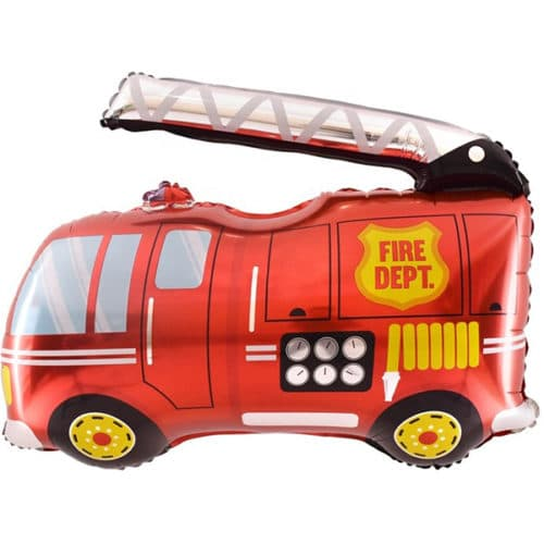 Шар 41 см Мини-фигура Пожарная машина Красный