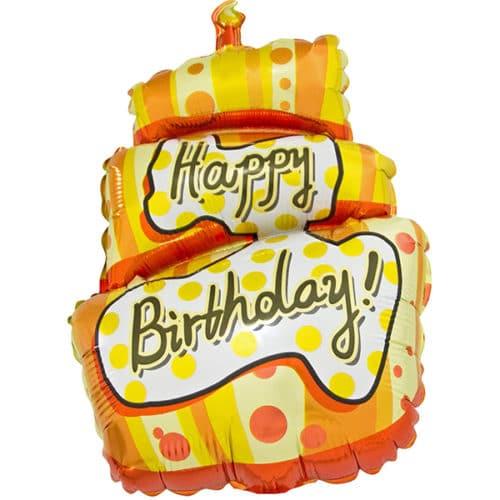 Шар 43 см Мини-фигура Торт на День Рождения