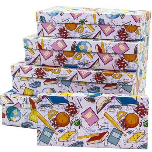 Набор коробок Школьная пора 30 х 18 х 7 см 5 штук
