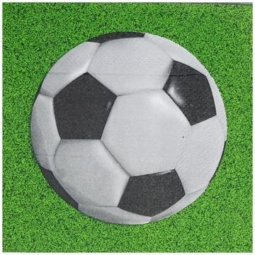 Салфетка 25 см Футбол 12 штук