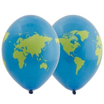 Шар 30 см Земной шар Голубой Пастель