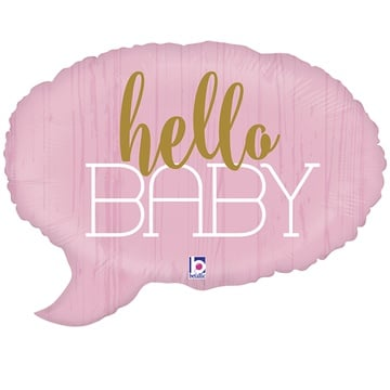 Шар 61 см Фигура HELLO BABY Спич бабл розовая