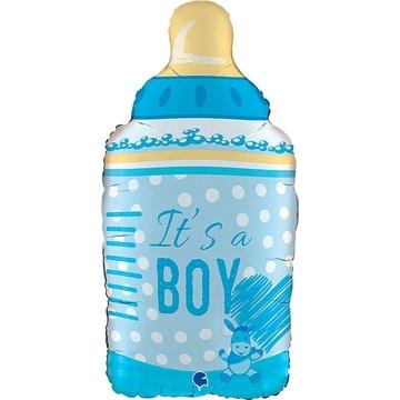 Шар 73 см Фигура IT'S A BOY Бутылка голубая