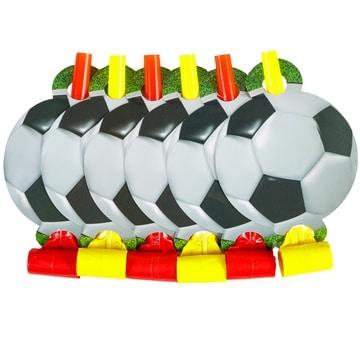 Язык-гудок Футбол 6 штук