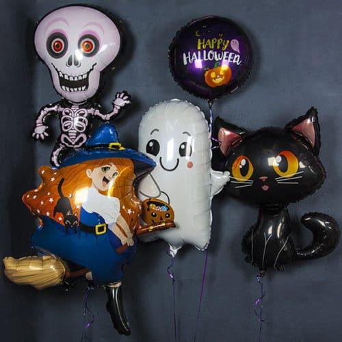 Набор из 5 фольгированных шаров на Хэллоуин